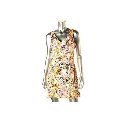 ジェシカシンプソン ドレス ワンピース Jessica Simpson 4415 レディース マルチ フローラル プリント ノースリーブ ミニ ドレス 14 BHFO