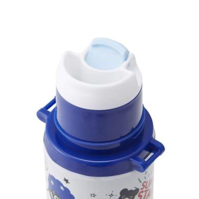 ミキハウス MIKIHOUSE ダブルB コミック風ステンレスボトル(水筒)(500ml) 65-4048-263 ブルー