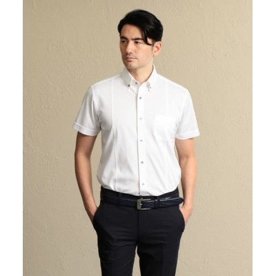 EPOCA UOMO/エポカ ウォモ ストライプジャージー ボタンダウンシャツ ホワイト 52