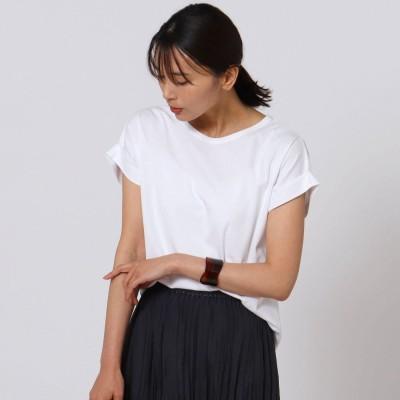 アンタイトル UNTITLED [L]【洗える】フレンチスリーブ プルオーバー (オフホワイト)