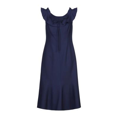 CAROLINA HERRERA 7分丈ワンピース・ドレス ダークパープル 8 バージンウール 94% / テンセル 5% / ナイロン 1% 7分