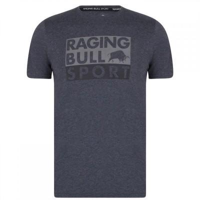 ライジング ブル Raging Bull Sport メンズ Tシャツ トップス Bull Sport Casual T Shirt Gunmetal Grey