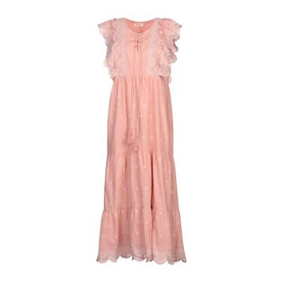DEBY DEBO ロングワンピース&ドレス パステルピンク L コットン 100% ロングワンピース&ドレス