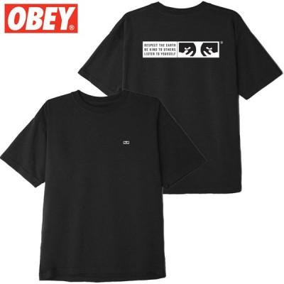 オベイ OBEY BE KIND TEE(BLACK)オベイTシャツ OBEYTシャツ オベイ半袖 OBEY半袖