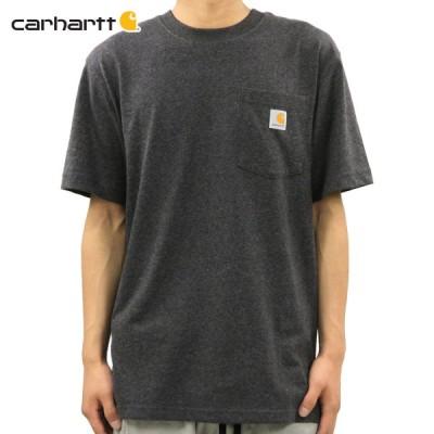 カーハート Tシャツ メンズ 正規販売店 CARHARTT 半袖Tシャツ WORKWEAR POCKET SHORT-SLEEVE T-SHIRT K87 CRH CHARCOAL HEATHER