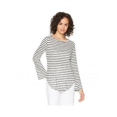 LNA エルエヌエー レディース 女性用 ファッション Tシャツ Bell Long Sleeve Top - Black/White Stripe