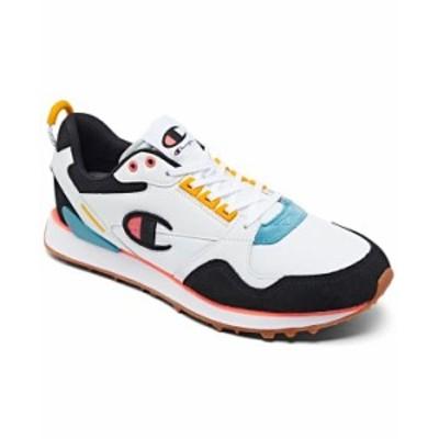 チャンピオン メンズ スニーカー シューズ Men's Relay 21 Casual Sneakers from Finish Line Black White