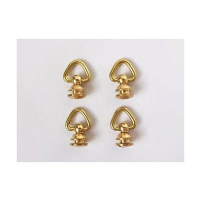 レザークラフト 真鍮 ドロップハンドル ジョイント パーツ 4個 セット (ゴールド) ( (ゴールド)