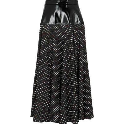 クリストファー ケイン Christopher Kane レディース ひざ丈スカート スカート Black polka-dot midi skirt Black