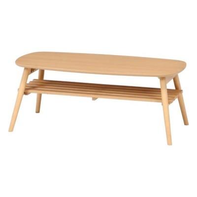 ローテーブル 折レ脚センターテーブル ノルン 6310-19SKV 96351 NA 不二貿易【180サイズ】