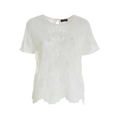 ラルフローレン レディース Tシャツ トップス Polo Ralph Lauren Lace Scallop-Hem T-Shirt -