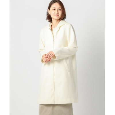 【ミューズ リファインド クローズ】 ライト2WAYフードコート レディース アイボリー M MEW'S REFINED CLOTHES