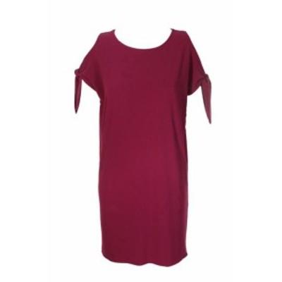 Red  ファッション ドレス Bar III Tie Red Sleeve Detail schiftkleid XS
