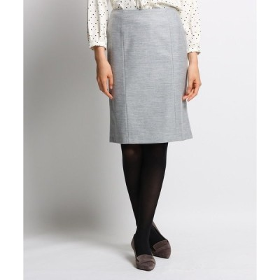 スカート ウールブレンドタイトスカート