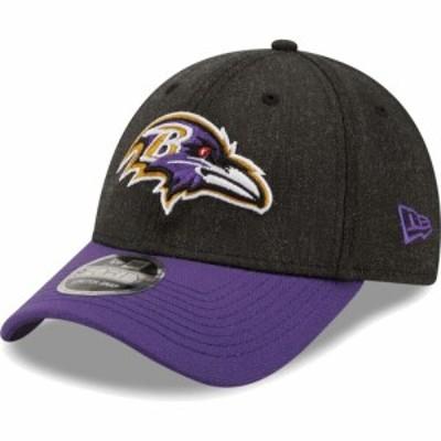 ニューエラ New Era メンズ キャップ 帽子 Baltimore Ravens Black League 9Forty Adjustable Hat