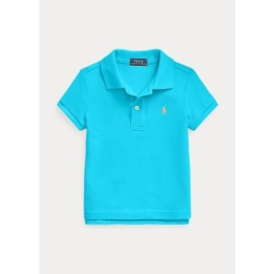 ラルフローレン 2-6X ガールズ/キッズ Polo Ralph Lauren Cotton Mesh Polo Shirt ポロシャツ 半袖 Cove Blue 女の子