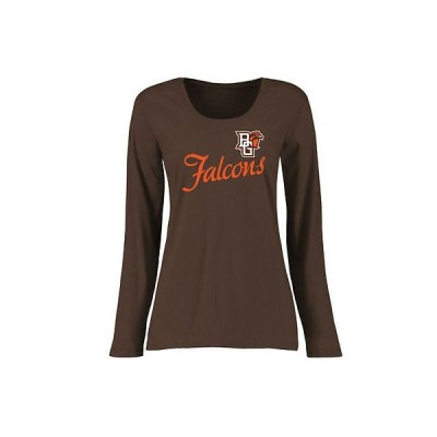 ファナティックス カレッジ スポーツ NCAA アメリカ USA 大学 Bowling グリーン St. Falcons レディース ブラウン Dora クラシック Fit 長袖 Tシャツ
