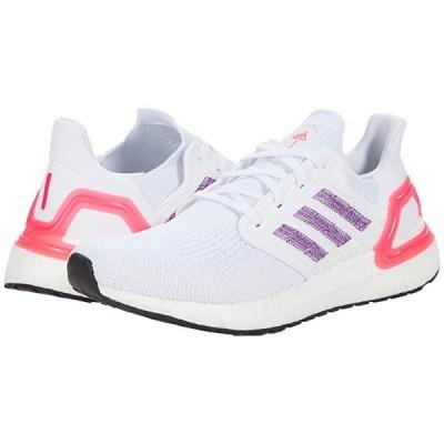 アディダス Ultraboost 20 レディース スニーカー Footwear White/Glory Purple/Echo Pink