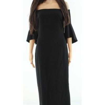 Laundry by Shelli Segal ランドリーバイシェルシーガル ファッション ドレス Laundry By Shelli Segal NEW Black Off-Shoulder Ruffled