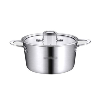 HEWEI Priority Culture Soup Pot Glass Stew Pans Clear Pot with Kitchen Durable Stainless Steel Stew Pot Curry Vegetable Casserole with Lid Restaurant