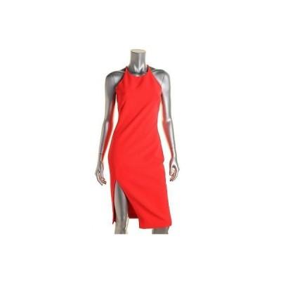 バルドー ドレス ワンピース Bardot 6337 レディース ピンク Side Slit Criss-クロス Back Party Cocktail ドレス S BHFO
