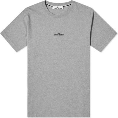 ストーンアイランド Stone Island メンズ Tシャツ トップス marble three print tee Grey Marl