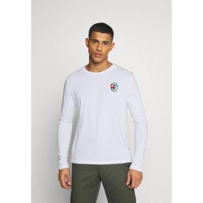 ユアターン カットソー メンズ トップス UNISEX - Long sleeved top - white