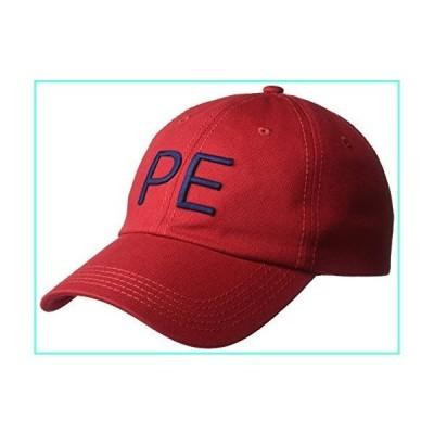 Perry Ellis Men's Classic Cotton Twill Baseball Cap, Haute red, OSFA並行輸入品
