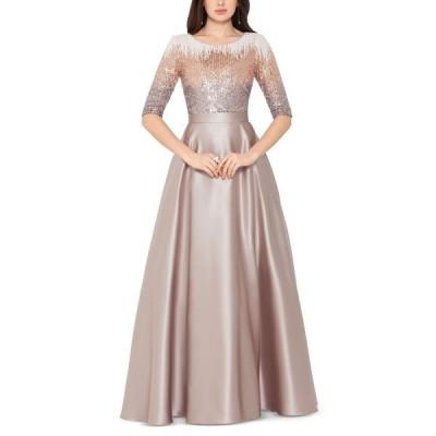 ベッツィアンドアダム レディース ワンピース トップス Embellished Satin Gown