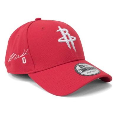 ラッセル・ウェストブルック キャップ 帽子 ニューエラ New Era 9FORTY サイン刺繍 ロケッツ NBA レッド アジャスタブル