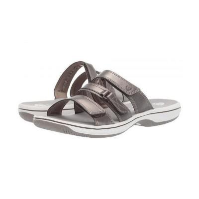 Clarks クラークス レディース 女性用 シューズ 靴 サンダル Brinkley Coast Boxed - Pewter Synthetic