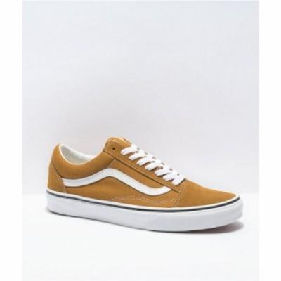 ヴァンズ VANS レディース スケートボード シューズ・靴 Vans Old Skool Golden Brown and White Skate Shoes Brown