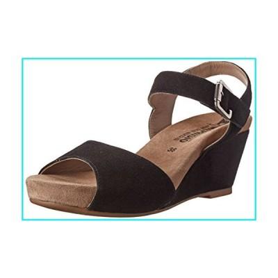 Mephisto Women's Beauty Wedge Sandal, Black Velcalf Premium, 11 M US【並行輸入品】