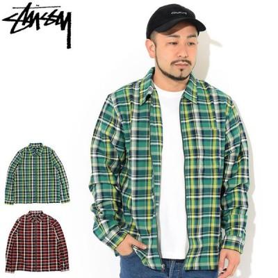 ステューシー シャツ 長袖 STUSSY メンズ Classic Zip Up Plaid ( stussy shirt ジップアップ カジュアルシャツ 1110160 USAモデル 正規 )