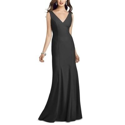 ドレッシーコレクション ワンピース トップス レディース V-Neck Open-Back Gown Black