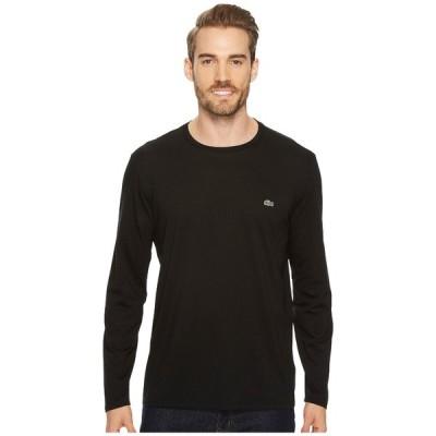 ラコステ シャツ トップス メンズ Long Sleeve Pima Jersey Crew Neck T-Shirt Black