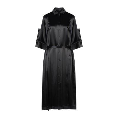 ジル サンダー JIL SANDER 7分丈ワンピース・ドレス ブラック 34 レーヨン 67% / キュプラ 33% 7分丈ワンピース・ドレス