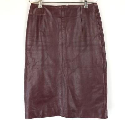 古着 RIVER ISLAND レザースカート タイト ブラウン系 レディースW27 中古 n014091