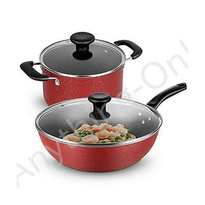 新品 ATTDDP Kitchen Cookware Sets Non-Stick Cookware Set - Cookware Set, Wok Non-Stick Pot, Two-Piece Soup Pot, Induction Cooker, Coal G