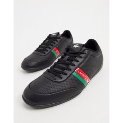ラコステ メンズ スニーカー シューズ Lacoste storda sneakers in black Black
