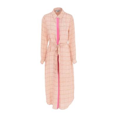 エッセンシャル・アントワープ ESSENTIEL ANTWERP 7分丈ワンピース・ドレス キャメル 34 シルク 100% 7分丈ワンピース・ドレス