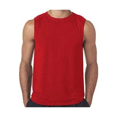 ヨガ服for Youメンズ吸湿発散性マッスルタンクトップシャツ カラー: レッド