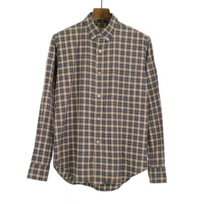 BROWN by 2-tacs ブラウンバイツーテックス B8-S001 Viyella shirts B.D. チェック柄ボタンダウンビエラシャツ ブラウン S メンズ