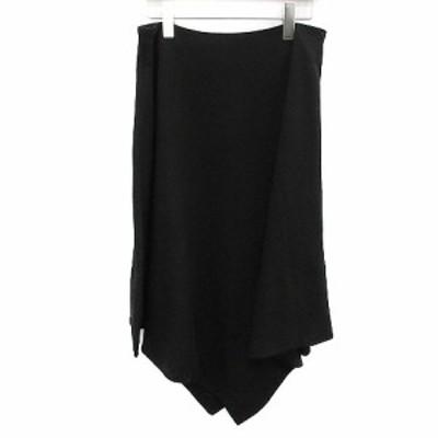 【中古】マリメッコ marimekko スカート ロング フレア 36 黒 ブラック /OG6 レディース