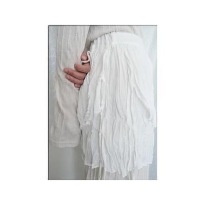 レディース スカート delicate wrinkle skirt