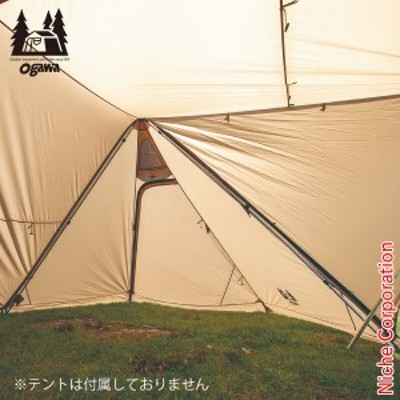 三太郎の日 オガワ ( ogawa ) ツインピルツフォーク L 二又フレーム [ 3047 ] アウトドア フレーム キャンプ ポール 棒