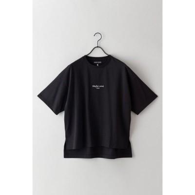 ZERO STAIN[汗染み防止]二段ロゴTシャツ