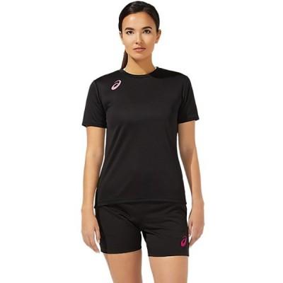 アシックス asics W'S グラフィック ショートスリーブトップバレーボール Tシャツ2052A273-002