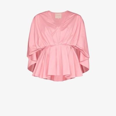 ロクサンダ Roksanda レディース ブラウス・シャツ トップス gathered peplum blouse pink