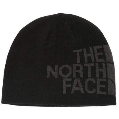 ザ・ノースフェイス The North Face Reversible TNF Banner Beanie レディース 帽子 TNF Black/Asphalt Grey Logo XL